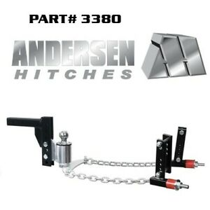 No Sway Andersen Weight Distribution Hitch 8 Drop W 2 5 16 Ball Fit 3 6 Frame