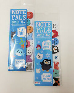 Ooly Note Pals Sticky Tabs Set Of 2 Arctic Animals And Sea Life
