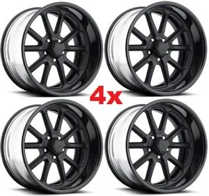 22 Wheels Rims Staggered C10 Custom Black Us Mags Raceline Intro