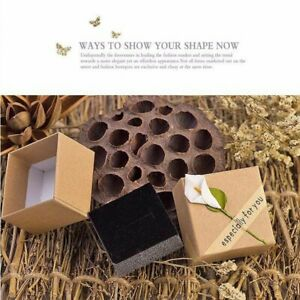 Square Craft Paper Jewelry Pack Boxes Wedding Party Gift Box For Earrings Gz