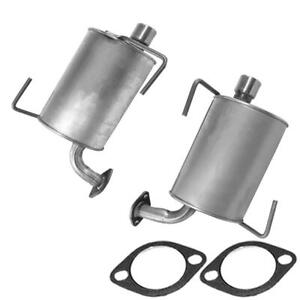 Pair Of Exhaust Muffler Fits 2009 2013 Subaru Forester Turbo 2 5l