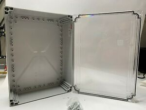 Hoffman Q403013pcicc Clear Electrical Enclosure Box