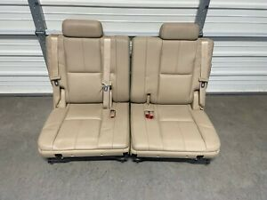 2007 2014 Tahoe Suburban Escalade Leather 3rd Third Row Rear Seats Tan Cashmere
