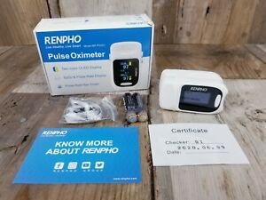 Renpho Accurate Reading Pediatric And Adult Pulse Oximeter Oxygen Monitor