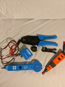 Ideal Tone Generator Amplifier Probe Punch Down Crimpmaster Dies Cable Stripper