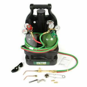 Victor Portable Tote Torch Set For Brazing Soldering With Cylinders 0384 0946