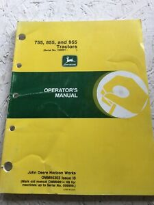 John Deere 755 855 955 Tractor Operators Manual