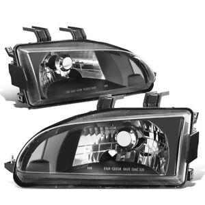 For 1992 1995 Honda Civic Eg Eh Ej Black Housing Clear Lens Left right Headlight