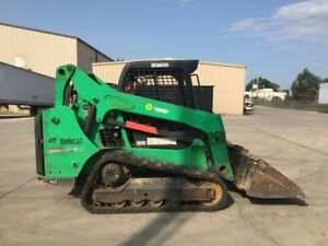 2015 Bobcat T590 Compact Skid Steer W 66 In Paladin Bucket Attachment