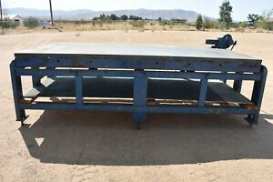 Used Welding Fabrication Table 9 X 4 X 36 Top Plate 1 1 2 Thick