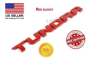 For Toyota Tundra Emblems 3d Origianl Door Badge For Sr5 Nameplate Red 07 19