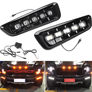 Exact Fit Switchback Led Drl Lights W Turn Signals For Ford F150 Raptor 2017 19