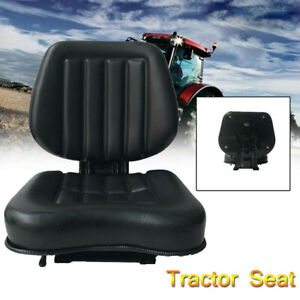 Black Tractor Seat With Back Rest Waterproof Lawn Mower Garden Tractor Utv atv