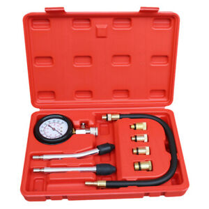 8pc Oil Pressure Tester Kit Car Engine Oil Pump Pressure Low Oil Warning Devices