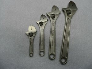 Craftsman 4 6 8 10 Adjustable Wrench Set Made In Usa 4 Pcs