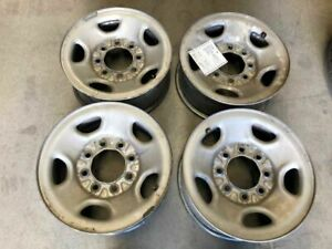 03 16 Silverado Sierra Express 2500 Used Set Of 4 Steel Wheels 8 Lug 16