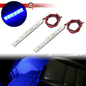 High Power Blue Car Interior Door Step Dome Lights Atmosphere Lighting Universal