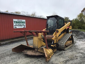 2015 Caterpillar 299d Xhp Track Skid Steer Loader W New Tracks Afe Mulcher