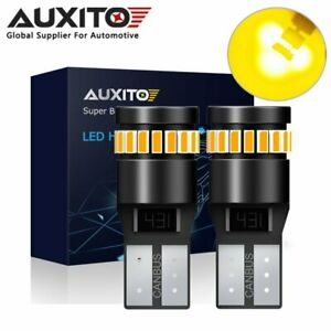 2x Auxito T10 168 194 Amber Yellow Canbus Led Side Marker Parker Light Bulb