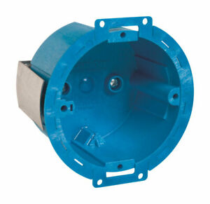 Carlon 3 5 In Round Thermoplastic 1 Gang Electrical Ceiling Box Blue