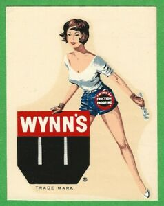 Vintage Original 1964 Wynn S Friction Proofing Oil Hot Rat Rod Water Decal Art
