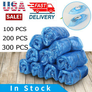 100 300x Wholesale Blue Waterproof Disposable Plastic Shoe Covers Overshoes Boot