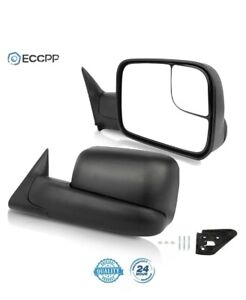 Mirrors Towing Manual Left Driver Side For Dodge Ram 1500 2500 3500 Side Mirror