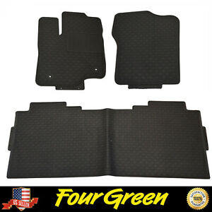 Black All Weather Rubber Floor Mats For 2015 2020 Ford F 150 Super Crew Cab