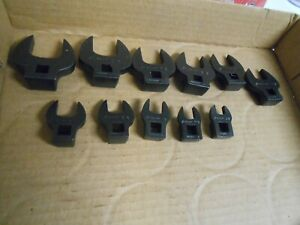 Snap On 11pc 3 8 Dr Crowfoot Set Crowsfoot Industrail Black Finish 3 8 To 1