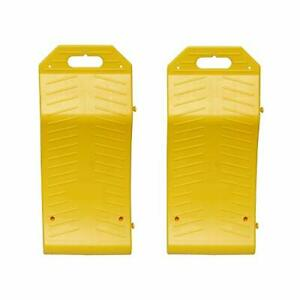Bisupply Tire Saver Ramps Vehicle Storage Portable Ramp Set Curved Low Profile