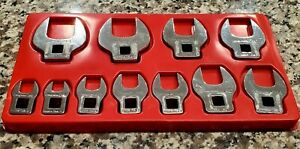 Snap On Tools 3 8 Drive 11 Piece Sae Crowfoot Wrench Set 3 8 To 1
