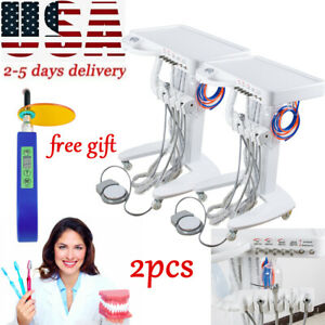 2x4 hole Dental Delivery Mobile Cart Unit Equipment No Compressor Equipment gift