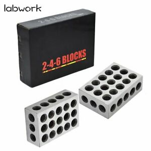 New 1 Matched Pair 2 4 6 Blocks 23 Holes 0006 Machinist 246 Jig