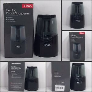 Tihoo Rechargeable Electric Pencil Sharpener Black New In Box