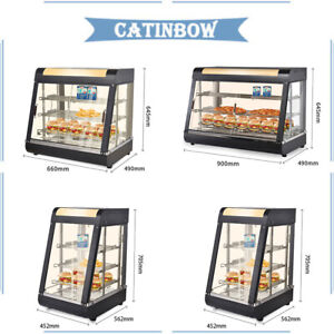 Commercial Home Food Warmer Court Hamburger Fries Pizza Display Warm Cabinet Us