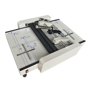 A3 Paper Booklet Binding And Folding Machine Manual Booklet Stapler 220v