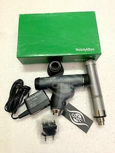 Welch Allyn Panoptic Ophthalmoscope 11820 l With Cobalt Blue Filter Corneal Vie