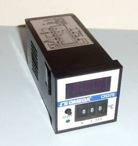 Omega Cn375 Over Temperature high Limit Controller 0 999 f 110 220 Vac Relayout