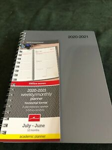 Office Depot July 2020 June 2021 Academic Planner Weekly monthly