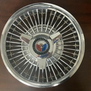 1965 1966 Ford Mustang Galaxie 15 Wire Wheel Spinner Hubcaps Set Of 4