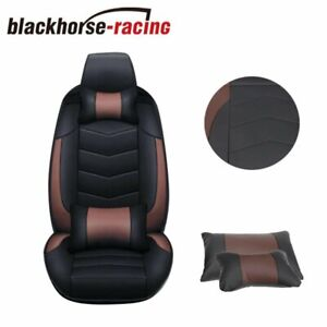 Pu Leather 5 Seats Suv Front Rear Car Seat Cover Cushion Full Set Universal