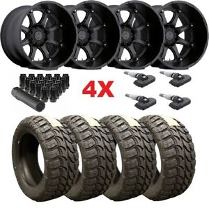 22x14 Black Rhino Wheels Rims Tires 35 12 50 22 Mt F 250 F 350 Glamis Fuel Xd