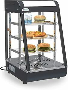 25 X 19 X 17 Commercial Food Pizza Warmer Countertop Cabinet Heater Display