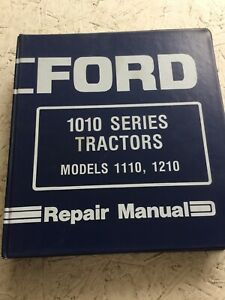Ford 1110 1210 Tractors Service Manual with Supplement Sections