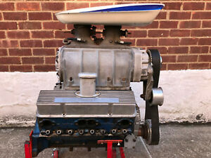 Nostalgia Blown 327 Small Block Chevy Sbc Gmc 6 71 Hilborn Front Engine Dragster