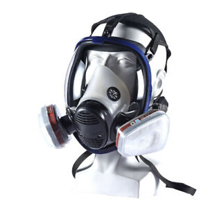 Full Face Paint Gas Mask 6800 Respirator Chemical Mask With Carbon Filter Cartri