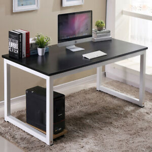 Wood Computer Desk Pc Laptop Table Study Home Furniture Workstation Us Black