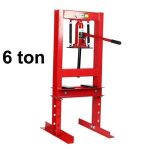 6 Ton 13227 7ib Hydraulic Shop Press Floor Shop Equipment Stand H Frame Red