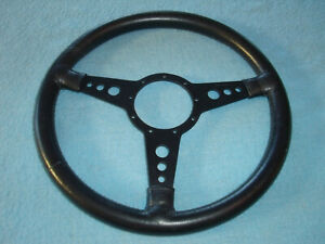 Vintage Moto lita Steering Wheel Leather 15 Mg 9 Bolt Tr4 European Mount Racing