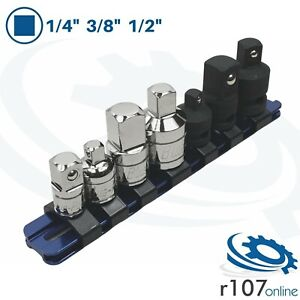 Blue Point 1 4 3 8 1 2 Step Up Down Adaptors With Rail As Sold By Snap On